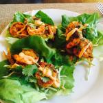 Butter lettuce Shrimp Wraps