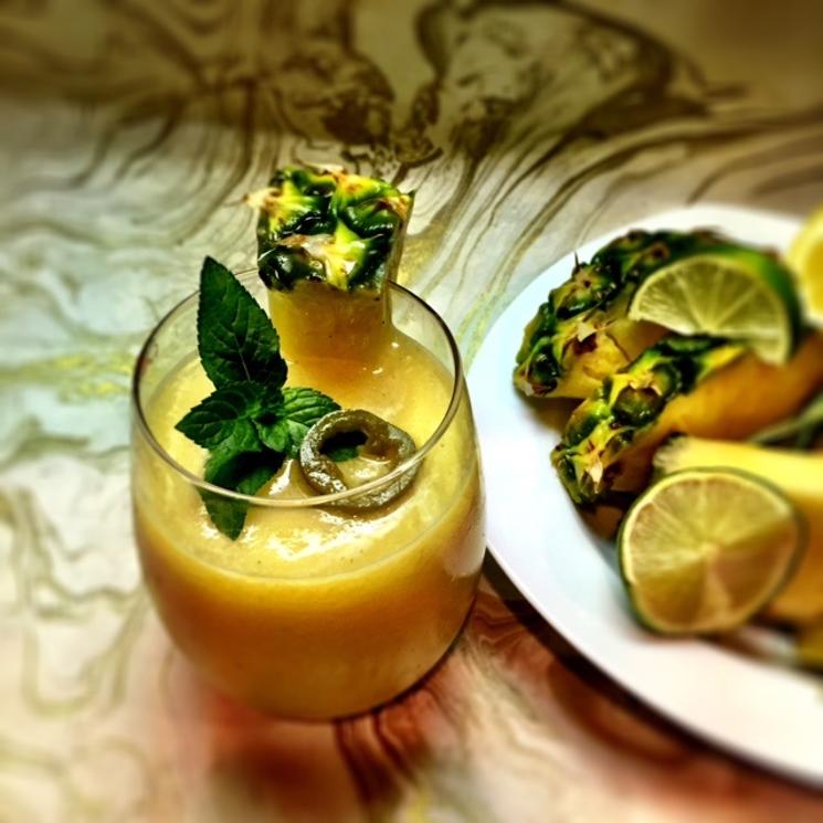 Frozen Spicy Pineapple Margarita